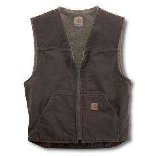 Carhartt Mens Sandstone Rugged Vest   Sherpa Lined   Save Up to 80%