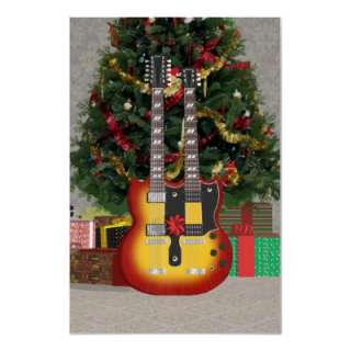Music Poster Double Neck Guitar Sunburst Finish by spiritswitchboard