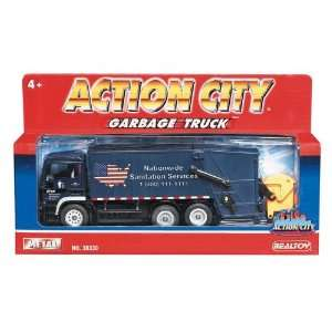 Action City Pull Back Garbage Truck: Toys & Games