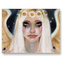 Away   Blonde Angel with a daisy crown Post Card by Kim_Turner_1