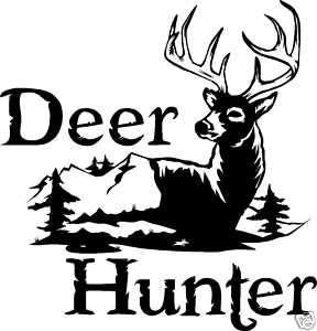 DEER HUNTING DECAL Whitetail,Elk,Buck,Doe Fish D911