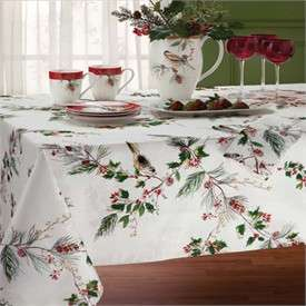 Lenox Winter Song Christmas Tablecloths   Lenox Christmas Place Mats