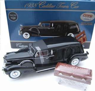 18 Precision Miniatures 1938 Cadillac HEARSE *BLACK*