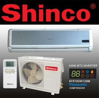 TON 24000 BTU NEW SHINCO DUCTLESS AIR CONDITIONER PANASONIC INVERTER