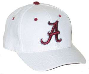 ALABAMA CRIMSON TIDE BAMA WHITE DH FITTED HAT/CAP SIZE 7 3/8 NEW