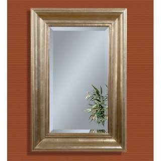 Bassett Mirror Antique Silver Leaf Rectangular Wall
