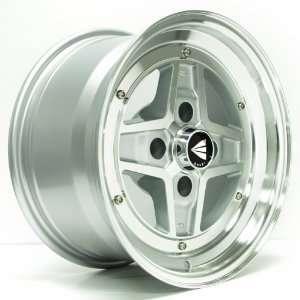 15x8 Enkei Apache II (Silver Machined) Wheels/Rims 4x114.3
