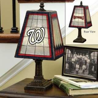 Washington Nationals 14 Art Glass Table Lamp