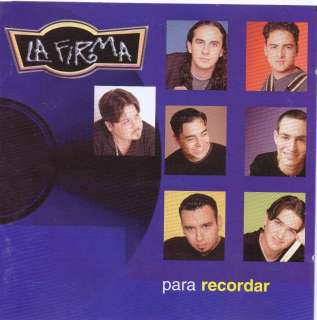 LA FIRMA Para recordar MEXICAN CD Sony 1999 !