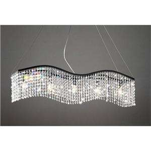 MODERN BLACK AND CLEAR CRYSTAL CHANDELIER PENDANT LIGHT FIXTURE