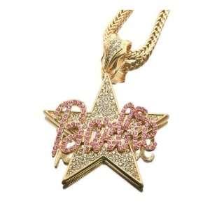 Barbie Star Nicki Minaj Pendant with 20 Inch Necklace Chain Jewelry