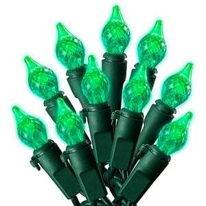 Walmart Holiday Time LED C4 Teardrop Christmas Lights Green, 60