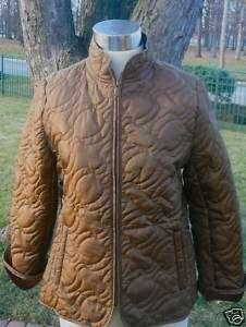 Carol Little, Brown Quilt Plush lined jacket, Sz. L EUC