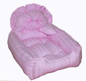 pink strip handmade cotton cat/pet/dog bed LUXURY