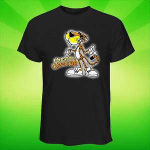 NEW!! Black Tee T Shirt Cheetos Snacks Chester Cheetah Funny Mascot