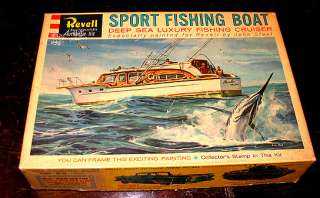Rare Vintage 1960 Revell Chris Craft Deep Sea Sport Fishing Boat