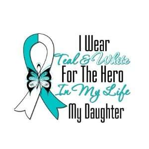 : Cervical Cancer Ribbon My Hero My Daughter Buttons: Everything Else