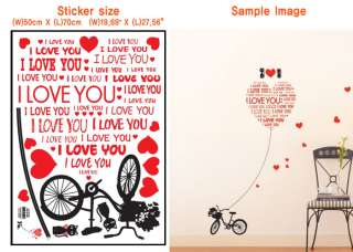 Love balloon Art deco Wall Mural Decal Sticker wallpaper cute