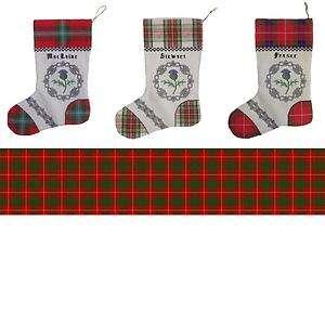 Cameron Tartan Christmas Stocking CROSS STITCH CHART