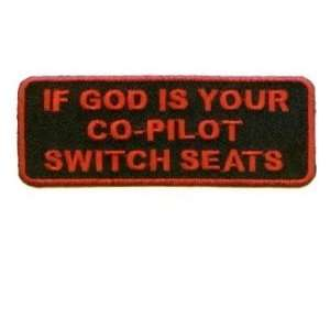 God is Your Co Pilot Switch Christian Biker Patch!!!: Everything Else
