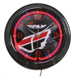 Fly Racing Wall Clock   Black/Red XF360 CLOCK Automotive
