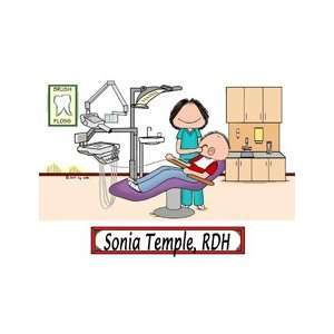 Personalized Dental Hygienist Cartoon Picture Gift: Home