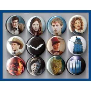 Doctor Who 11th Doctor Matt Smith Set of 12   1 Inch