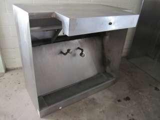 Restaurant Grease Exhaust Ventilation Hood Stainless Steel