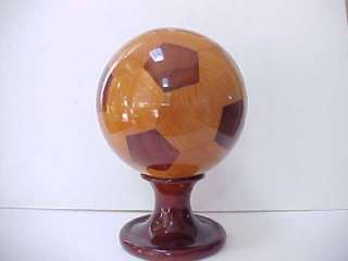 FIFA World Cup 2002 Wooden Soccer Ball w/ Stand.