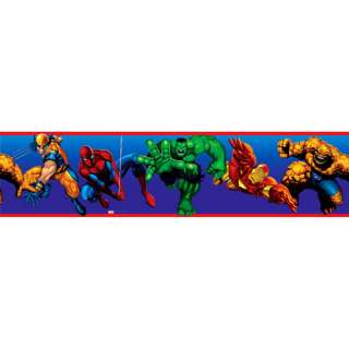 RoomMates Marvel Heroes Peel & Stick Wall Border
