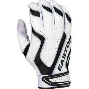 Easton Omen Adult Batting Gloves   Large White/Grey