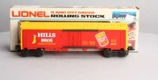 Lionel 6 9879 Hills Bros.Coffee Billboard Reefer Car EX/Box