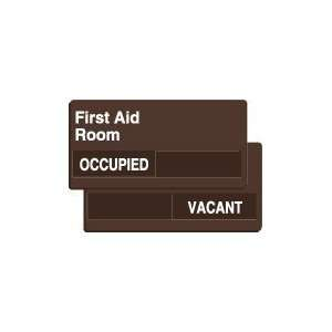 FIRST AID ROOM OCCUPIED/VACANT Sign   6 x 12