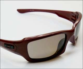 NEW Oakley Fives Squared Sunglasses with OO Polarized Lens Metallic