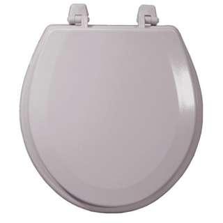 Molded Wood Toilet Seat, Tender Gray