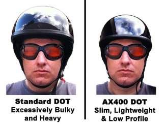 ULTRA SLIM LOW PROFILE DOT Motorcycle Half Helmet FLAT Matte BLACK