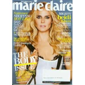 Marie Claire June 2008 Heidi Klum ((The Body Issue