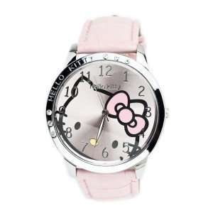 Light Pink Leather Hello Kitty Quartz Watch