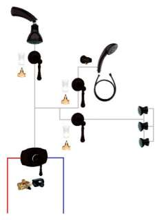 This shower and body spray system comes in oil rubbed bronze finish