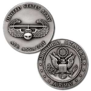 US ARMY AIR ASSAULT BADGE MILITARY CHALLENGE COIN