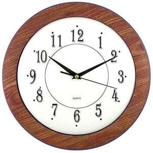 Faux Wood Grain Framed Wall Clock