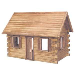 : Real Good Toys Crockett Log Cabin Kit   1 Inch Scale: Toys & Games