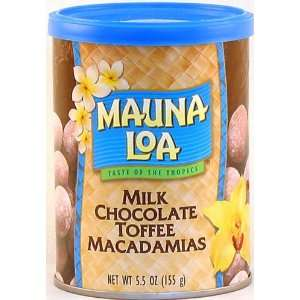 Mauna Loa Milk Chocolate Toffee Macadamia Nuts, 5.5 Ounce Can (Pack of