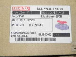 ASAHI 1601010 PVC/EPDM T 21 1 VALVE 1601 010 NIB