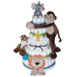 Giant Jungle Monkey Diaper Cake Baby