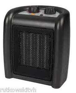 Watt Black Compact Ceramic Heater w/ Thermostat 052088868102