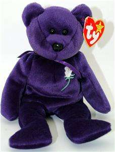 Very Rare 1st Edition TY Beanie Baby Princess Diana Collectible Bear