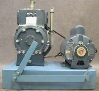Welch Duo Seal Vacuum Pump Belt Drive Model 1405