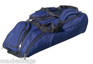 Navy Blue Baseball Softball Bat Equipment Roller Bag