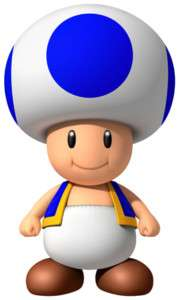 Sticker Decal   Super Mario Bros Blue Toad Wii CA2